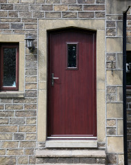 Energy efficient composite doors