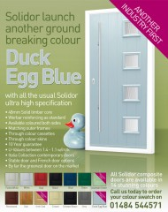 Duck Egg Blue Composite Doors - An Industry First