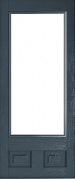The Alnwick composite door in Anthracite Grey.
