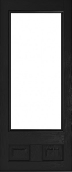 The Alnwick composite door in Black.