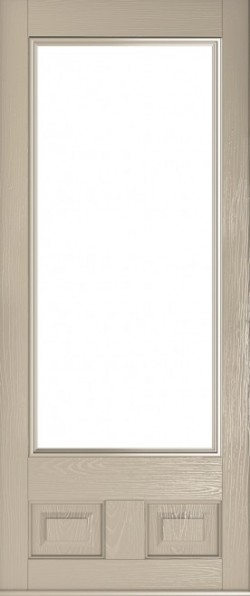 The Alnwick composite door in Cream.