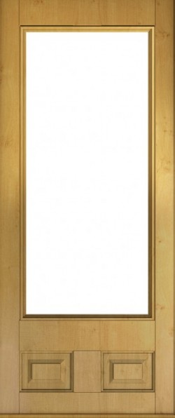 The Alnwick composite door in Irish Oak.