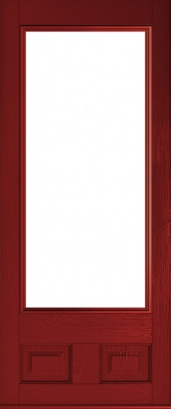 The Alnwick composite door in Red.
