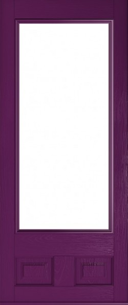 The Alnwick composite door in Rich Aubergine.