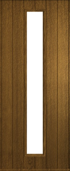 The Amalfi composite door in luxury Walnut.