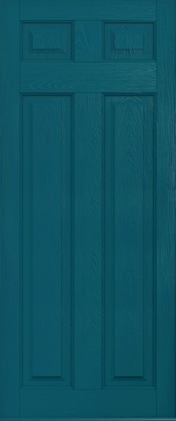 The Berkeley composite door in Peacock Blue.