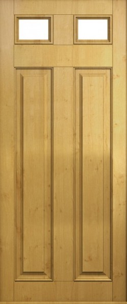 The Berkeley composite door in Irish Oak with glazed units.