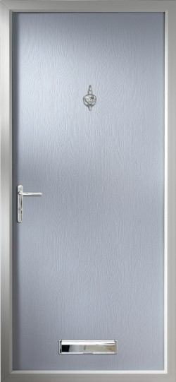 Thornbury composite door in Duck Egg Blue.