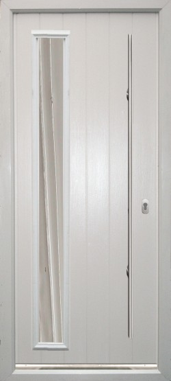 Brescia composite door shown in White with ES 3 door handle and key only security locking option.