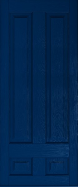 Solid Edinburgh composite door in Blue.