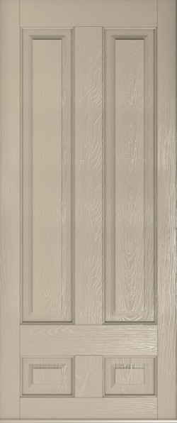 Solid Edinburgh composite door in Cream.