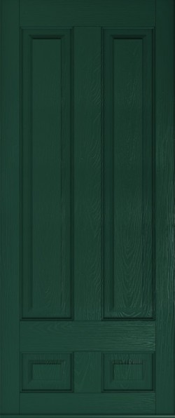 Solid Edinburgh composite door in Green.