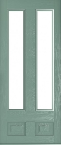 The Edinburgh composite door in Chartwell Green with glazed panels.