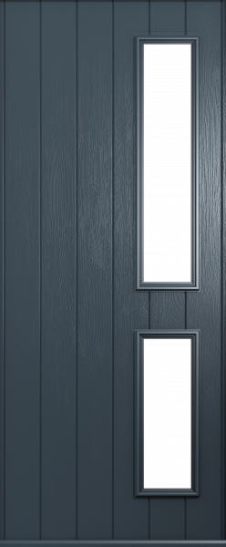 The Garda door shown in Anthracite Grey