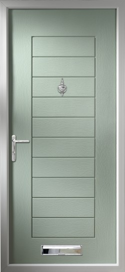 Windsor composite door in Chartwell Green.