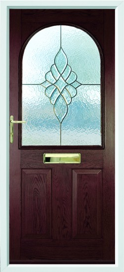 Stafford composite door in Rosewood with CTB2 glass.