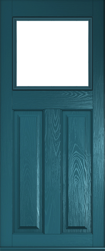 The classic Stirling composite door in Peacock Blue