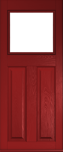 Stirling composite door in Red