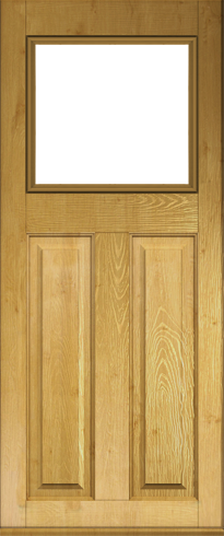 The Stirling door shown in Irish Oak foiled woodgrain effect