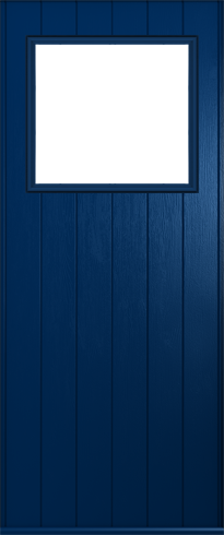 The stylist Trieste composite door shown in Blue.