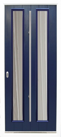 The Venice composite door shown in Blue with ES 3 door handle and key only security locking option.