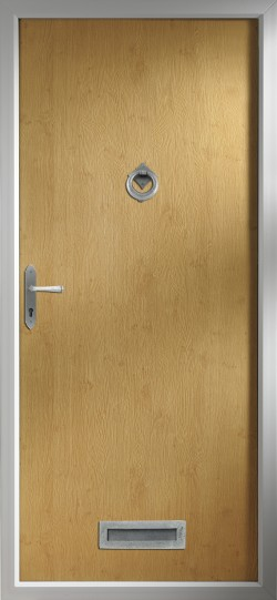 Thornbury composite door in Irish Oak.