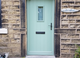 Flint 4 composite door in Chartwell Green