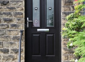 Ludlow 2 composite door and integral top light in Black with CFT 2.2 glass.