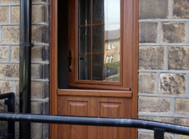 Beeston composite stable door in Golden Oak.