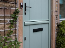 Flint composite stable door with top section closed