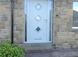 Flint 3 composite door in Painswick with side panels installed in Honley, Holmfirth.