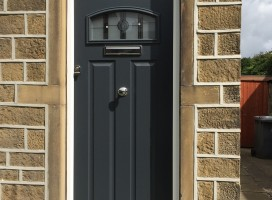 London composite door in Anthracite Grey installed in Huddersfield.