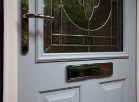 Close up of Stafford composite door.