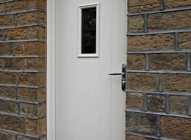 Ancona composite door from the Italia collection in Cream.
