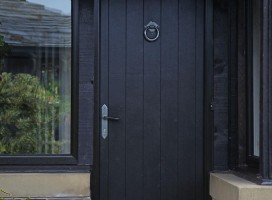 Ancona solid composite door in Black