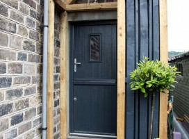 Flint 2 composite stable door in Anthracite Grey, Armitage Bridge