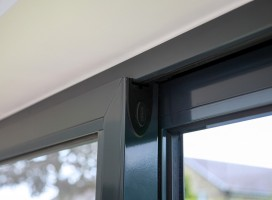 Aluminium sliding doors in Anthracite grey