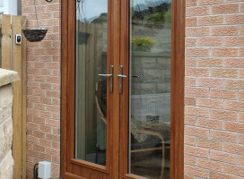 Biella French doors in Golden Oak.