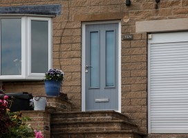 Edinburgh composite door in French Grey, Holmfirth