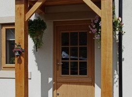 Irish Oak composite stable door with Georgian glass.