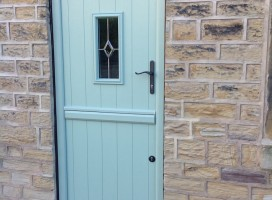 Flint 2 composite stable door in Chartwell Green with White interior.