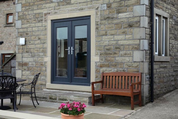 See images of Solidor composite French doors in situ.