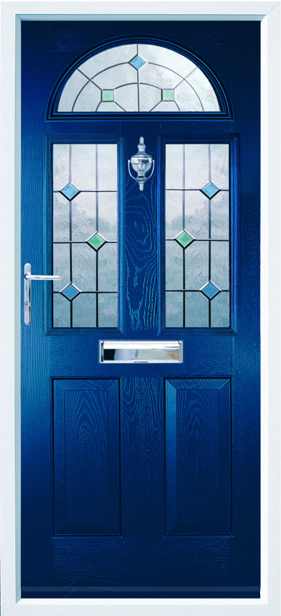 Conway 3 composite door in Blue with CTB12.3 glass option.