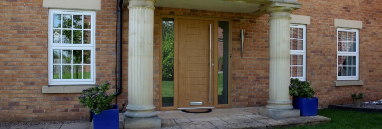 Bespoke composite doors with integrated side panels created by Composite Doors Yorkshire.
